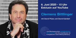 Veranstaltungshinweis zum Live-konzert mit Clemens Bittlinger
